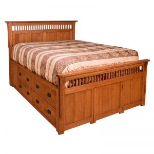 Queen Double Platform Bed