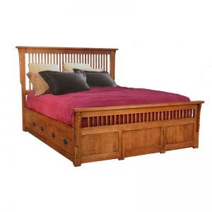 Queen Spindle Platform Bed